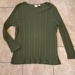 3/$12 green long sleeve top